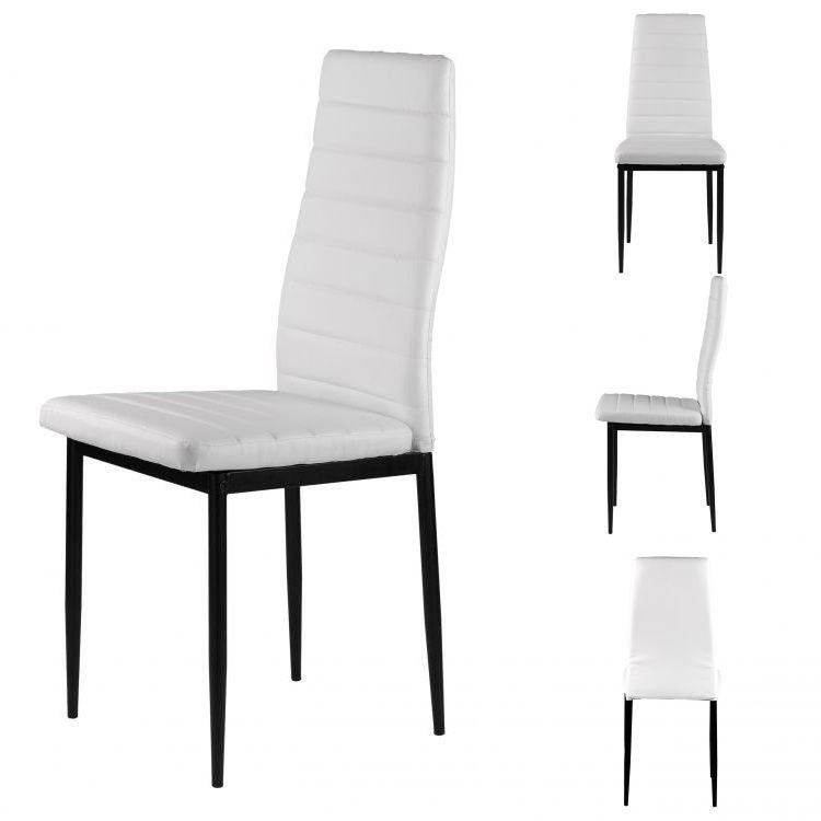 Krzesła Tapicerowane 4x Krzesło Do Salonu Jadalni