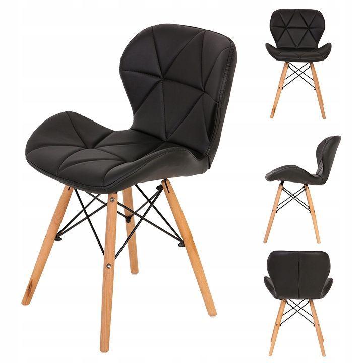 Prestige 4x modern szék készlet, műbőr, konyha és étkező használathoz, dc 005 modell, fekete szín